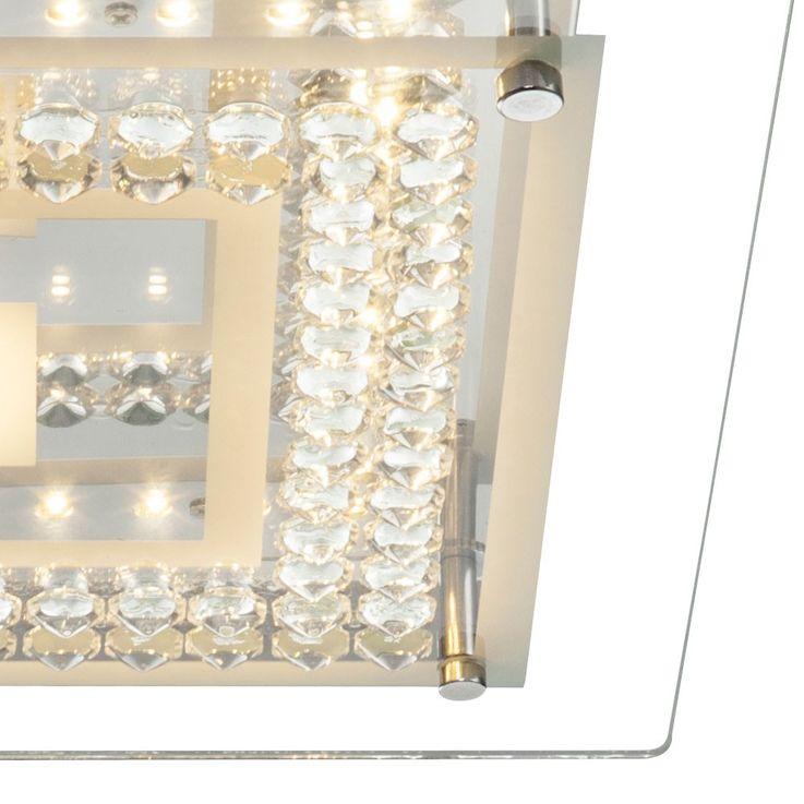Elegante Deckenlampe aus Chrom mit Amber Kristallen – Bild 5