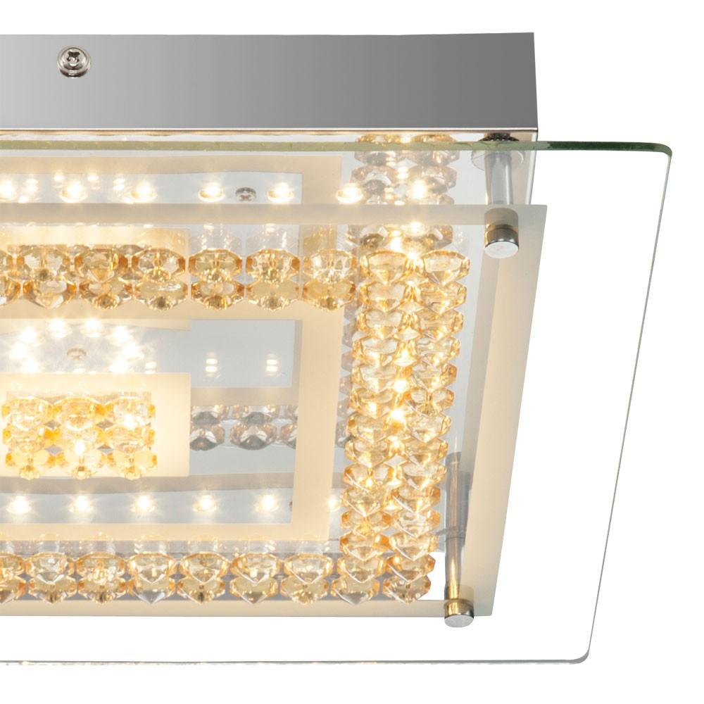 elegante deckenlampe aus chrom mit amber kristallen lampen m bel innenleuchten. Black Bedroom Furniture Sets. Home Design Ideas