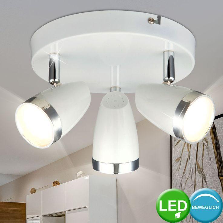 LED 12 Watt ceiling spot lighting round chrome mobile staircase light Globo 56109-3 – Bild 2
