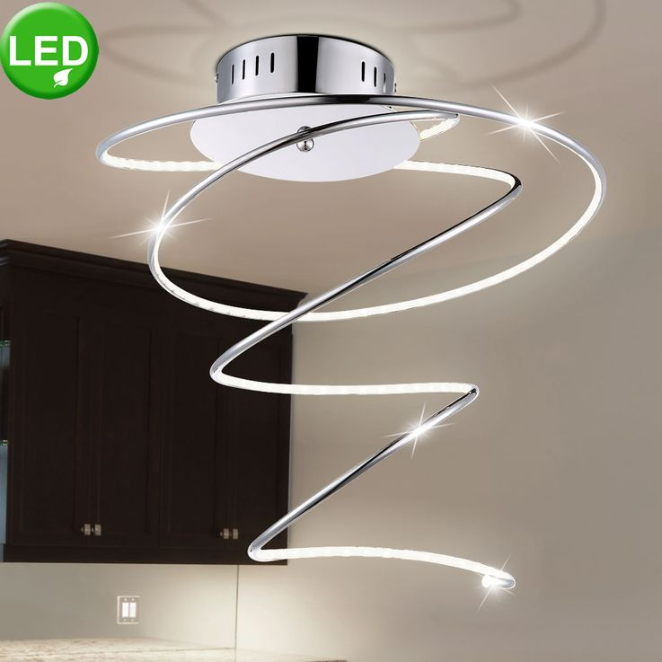 LED 19 Watt ceiling light acrylic lamp chrome lighting ring Globo 67814D REBEL – Bild 3