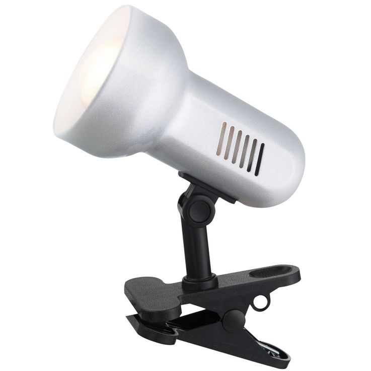 High quality metal clip spotlight silver metallic Spotlight swivel lighting Globo 5497 – Bild 1