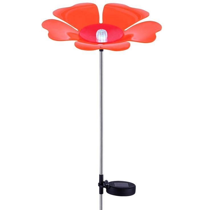 Lampe solaire DEL changeur des couleurs luminaire extérieur LED RVB fleur jardin – Bild 1