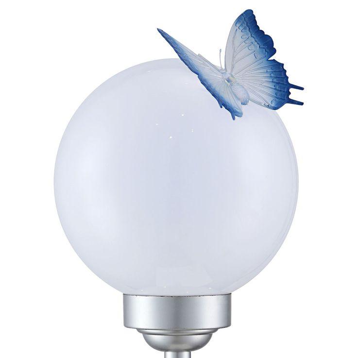 LED Solar Leuchte Schmetterling Steck Stand Steh Lampe Kugel Außen Strahler Dekoration Globo 33767 – Bild 6