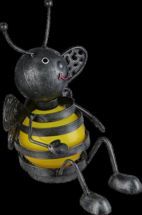 LED Solar Biene Leuchte Außen Bereich Figur Strahler IP44 Akku Balkon Lampe Globo 33407 – Bild 3