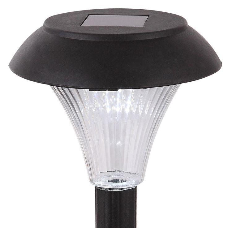 6er Set LED Solar Steckleuchten in schwarz, Höhe 30 cm – Bild 7