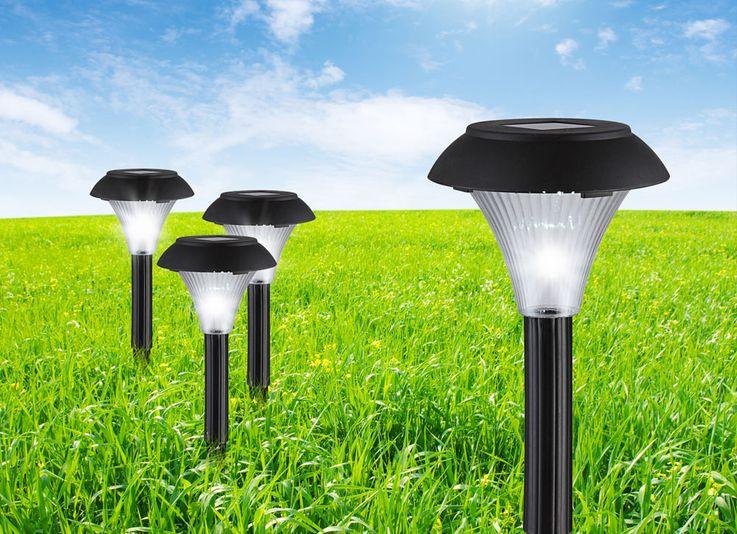 6x LED Solaire Extérieure Lampes Jardin Chemin Éclairage Porche Plug Lumières Noir  Globo 33930-6P – Bild 5
