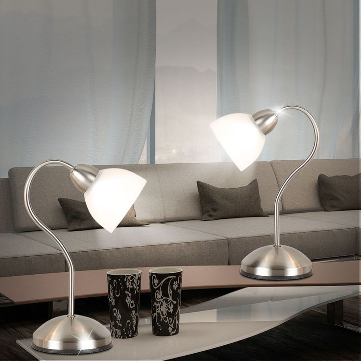 Writing desk light reading lamp glass satin touch switch lighting living room Globo 2170 – Bild 3