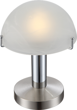 Moderne LED Tischlampe in nickel matt chrom Globo OTTI 21934 – Bild 1