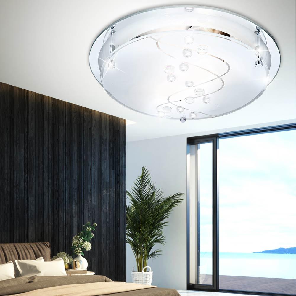 Decken lampe wohnzimmer glas spiegel flur bad leuchte for Spiegel esszimmer