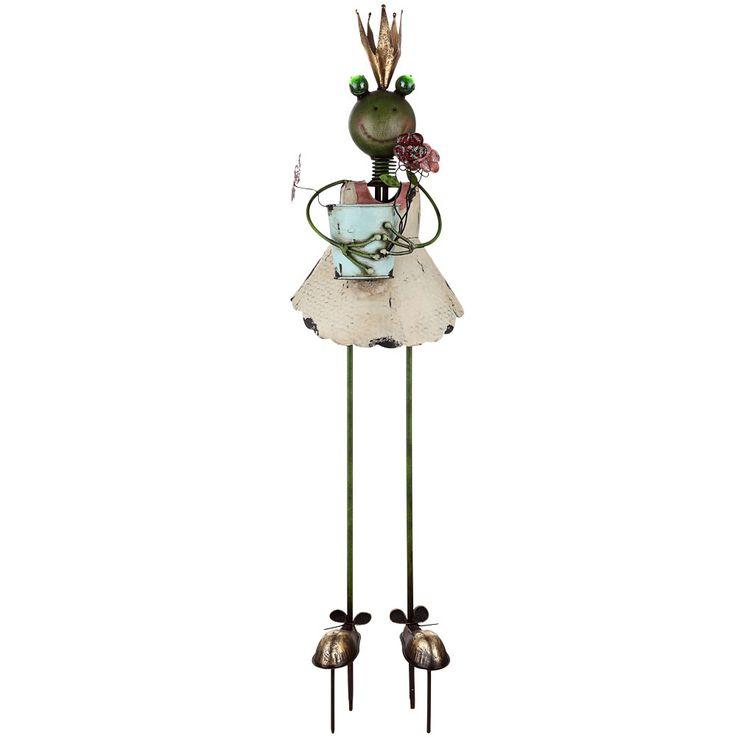LED Solar Außen Steck Lampe Frosch Königin Tiefer Figur Garten Beet Leuchte mehrfarbig  Globo 33456 – Bild 1