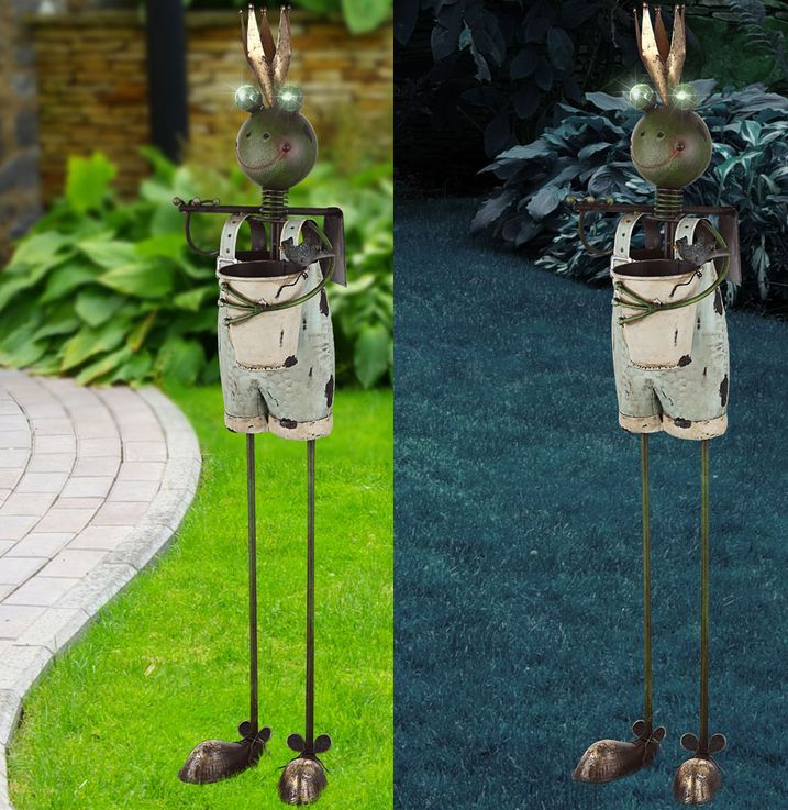 Lampe solaire LED grenouille  king plug lampe multicolore jardin déco éclairage Globo 33455 – Bild 3