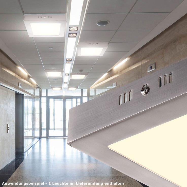 Éclairage plafonnier DEL 12 watts luminaire plafond lampe LED verre satiné – Bild 3