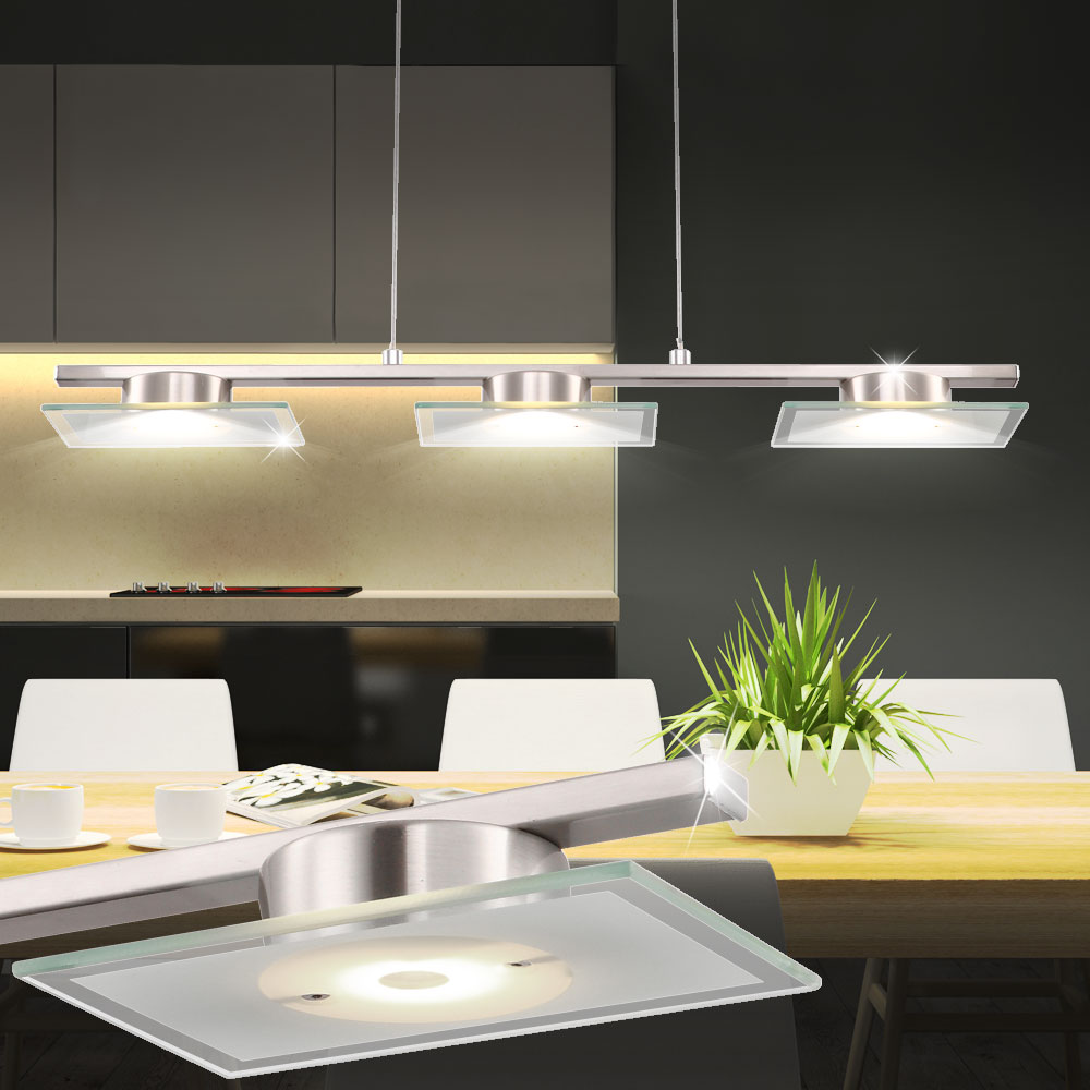 lustre suspension del 15 w luminaire plafond salle manger cuisine lampe led ebay. Black Bedroom Furniture Sets. Home Design Ideas