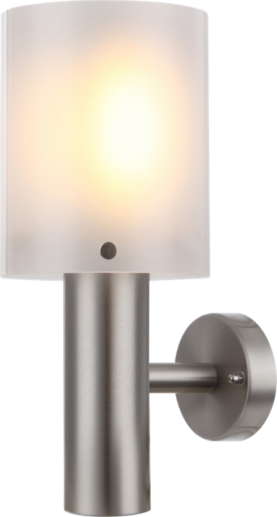 Traditional outdoor lamp stainless steel plastic cylinder opal Globo EXTOL 34240 – Bild 1