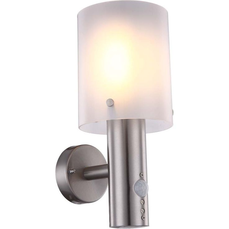Traditional outdoor lamp stainless steel plastic cylinder opal Globo EXTOL 34240 S – Bild 1