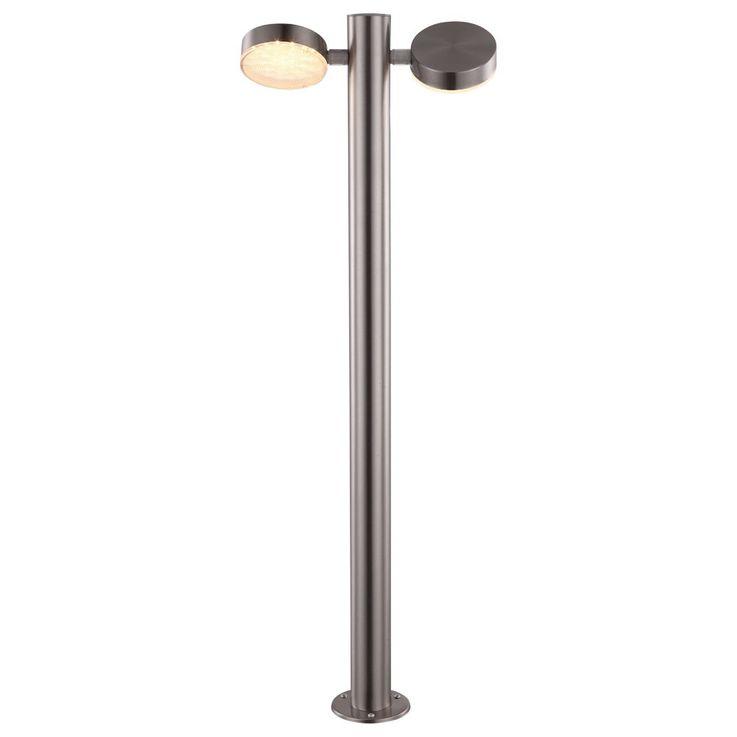 Edelstahl LED 11 Watt Außen Steh Stand Leuchte Garten Lampe IP44 Globo 34022 – Bild 1