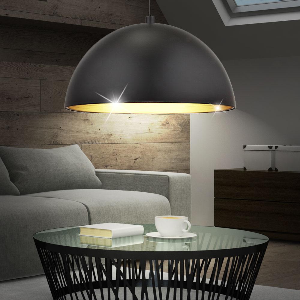h ngeleuchte im zeitlosen design mit rundem lampenschirm lampen m bel innenleuchten. Black Bedroom Furniture Sets. Home Design Ideas