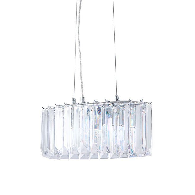 Attraktive 2-flg Pendel Hänge Lampe Chrom Acryl Lobby Globo PAVONIA 16319-2 – Bild 4