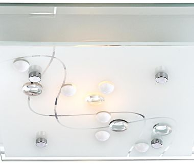 Modern ceiling lamp in square design – Bild 8