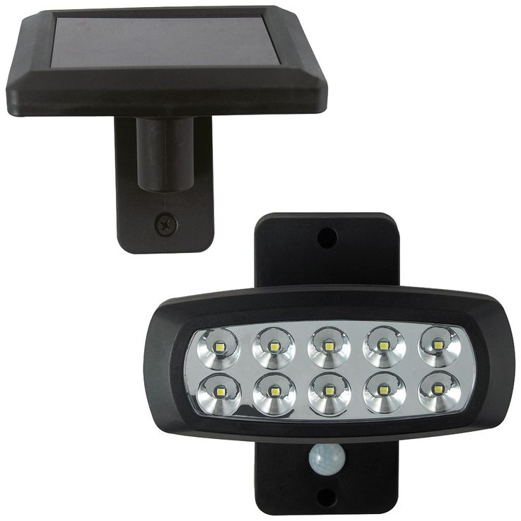LED solar lamp outdoor light lighting motion detector lamp black plastic BTR 1538 – Bild 1