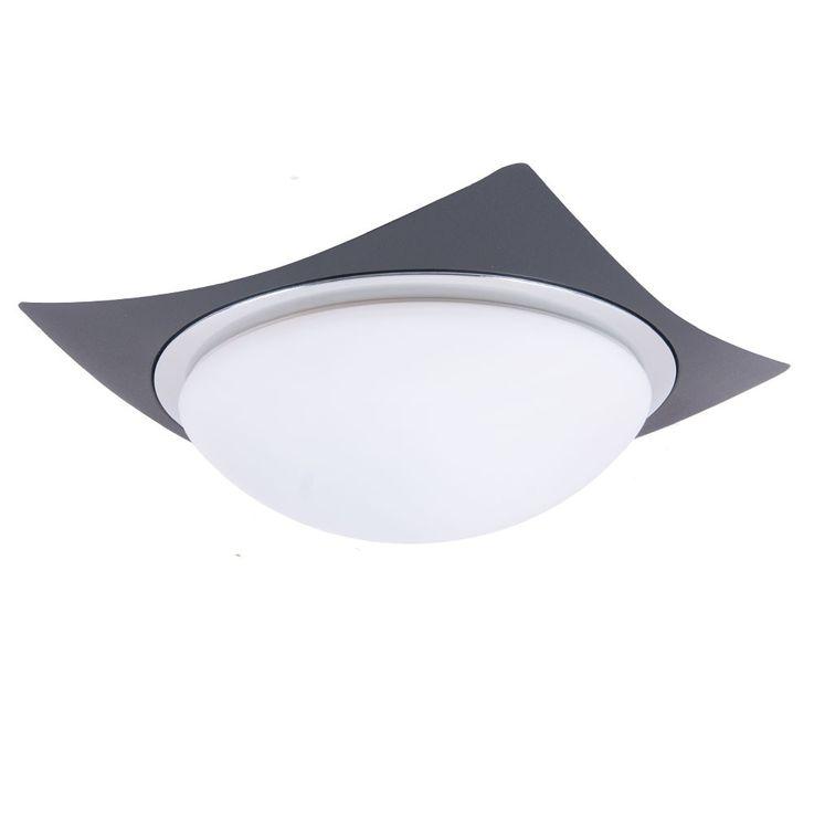 Plafonnier luminaire plafond noir mat métal verre décharge de traction IP44 éclairage – Bild 1