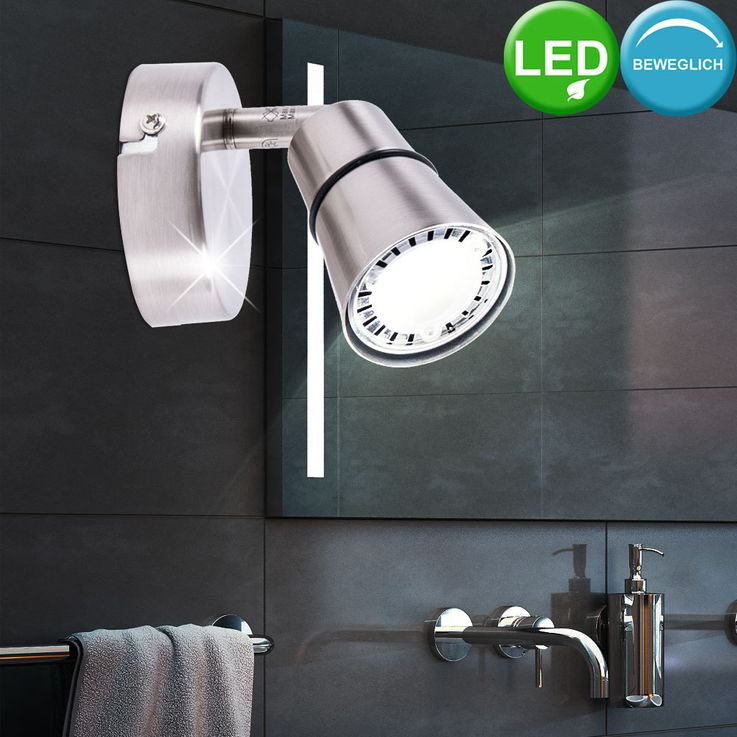 LED wall light reading lamp spot moving spotlight lighting silver  Brilliant – Bild 2