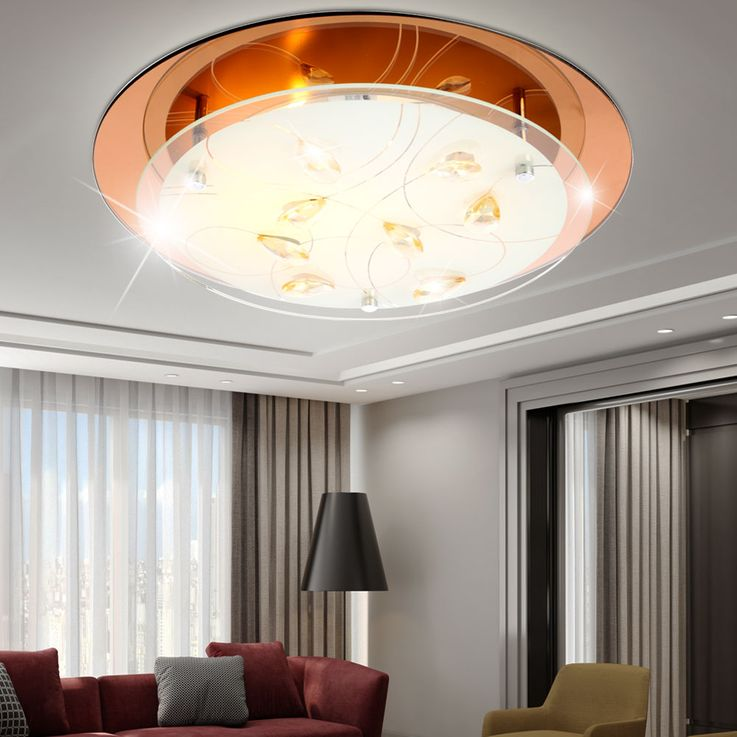 High-quality LED ceiling light in chrome with 14 Watts – Bild 3