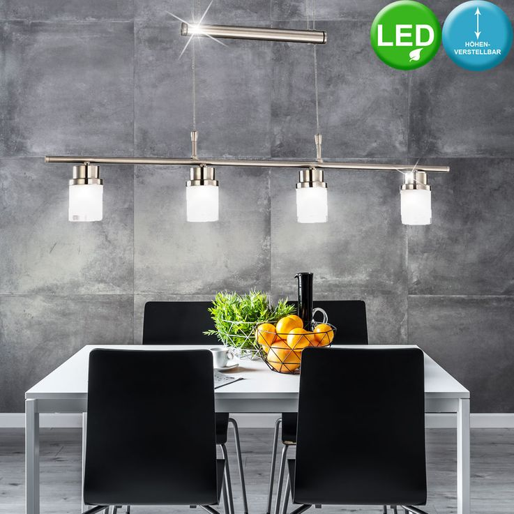 14.4 Watts LED train pendant lamp dining room hanging glass lamp adjustable action 50035 – Bild 2