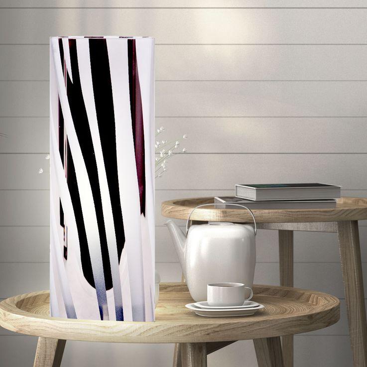 Lampe de table à poser Éclairage de la salle de travail verre chrome modèle lampe rayé  Brilliant 24547/15 – Bild 2