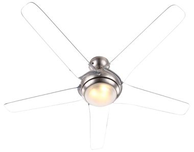 Cover fan with LED 20W lighting remote control 3-stage wings transparent Globo 0344 – Bild 6