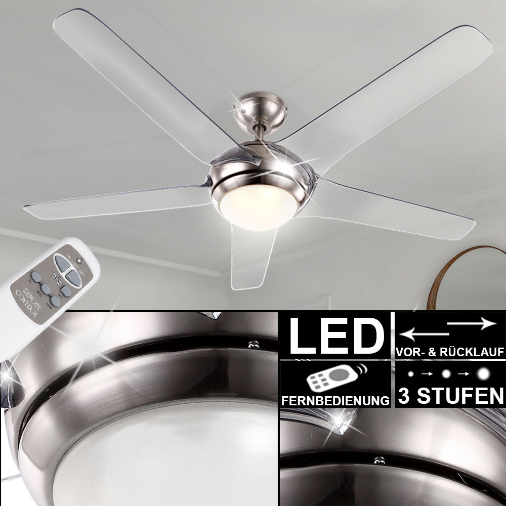 Ceiling Fan With Led 20w Lighting Remote Control 3 Level Wing Transparent Globo 0344 Etc Shop Lamps Furniture Technology Household All From One Source Etc Shop