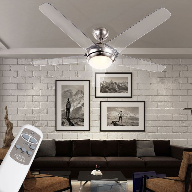 Ceiling fan with LED 20W lighting remote control 3-level wing transparent  Globo 0344 – Bild 3