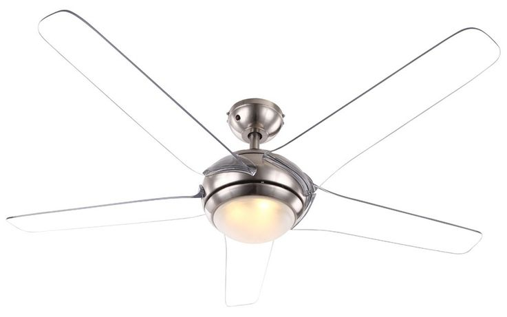 Ceiling fan with LED 20W lighting remote control 3-level wing transparent  Globo 0344 – Bild 1