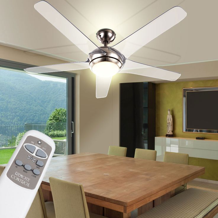 Ceiling fan with LED 20W lighting remote control 3-level wing transparent  Globo 0344 – Bild 6