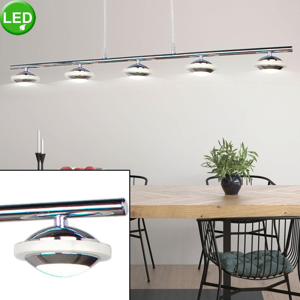 Lustre DEL 25 watts suspension argent 5 spots éclairage luminaire salle Á  manger