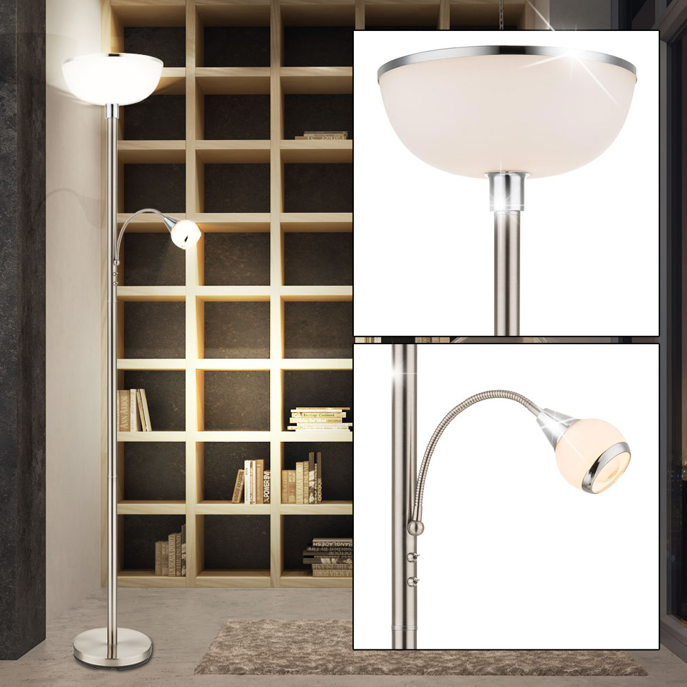 rgb led deckenfluter mit beweglichem lesearm. Black Bedroom Furniture Sets. Home Design Ideas