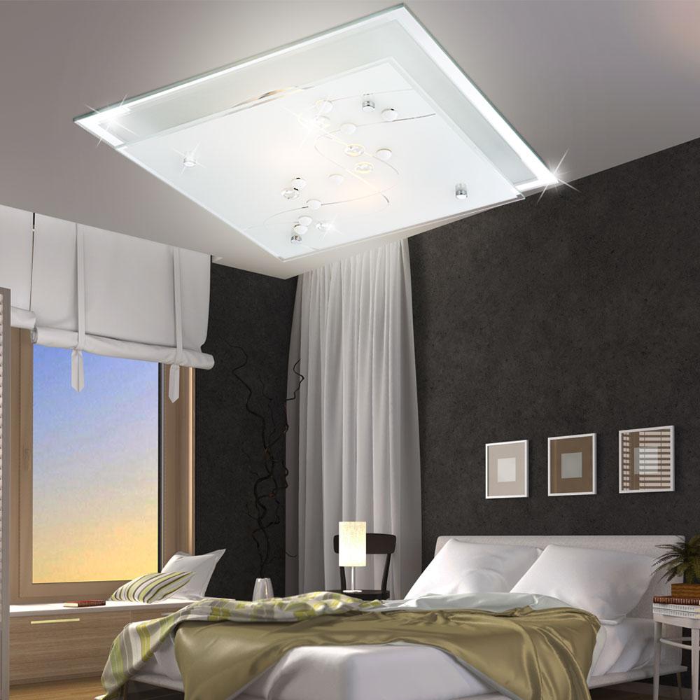 led 2x 5 watt wohn ess schlaf bade zimmer decken lampe. Black Bedroom Furniture Sets. Home Design Ideas