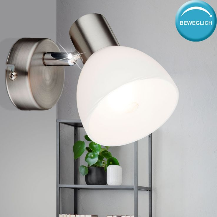 Glass Spot Wall Lamp Adjustable Residential Working Room Lighting Reading Spotlight  Globo 54918-1 – Bild 2
