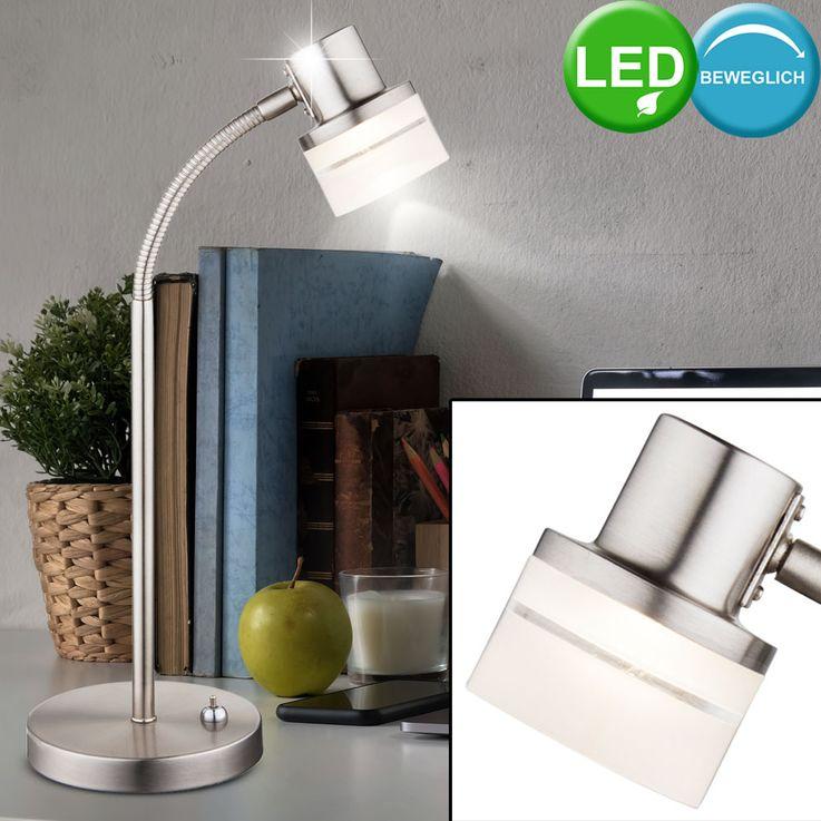 LED table de chevet lampe flexo bras lecture lampe chrome éclairage Globo 56550-1 t – Bild 2