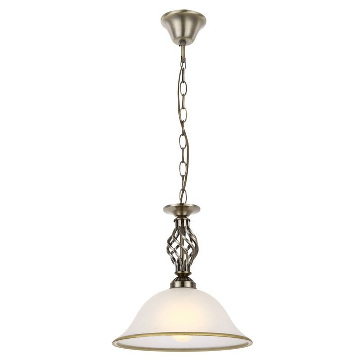 Hanging pendant light antique brass antique lighting country house style glass lamp satin Globo 60208 H – Bild 1