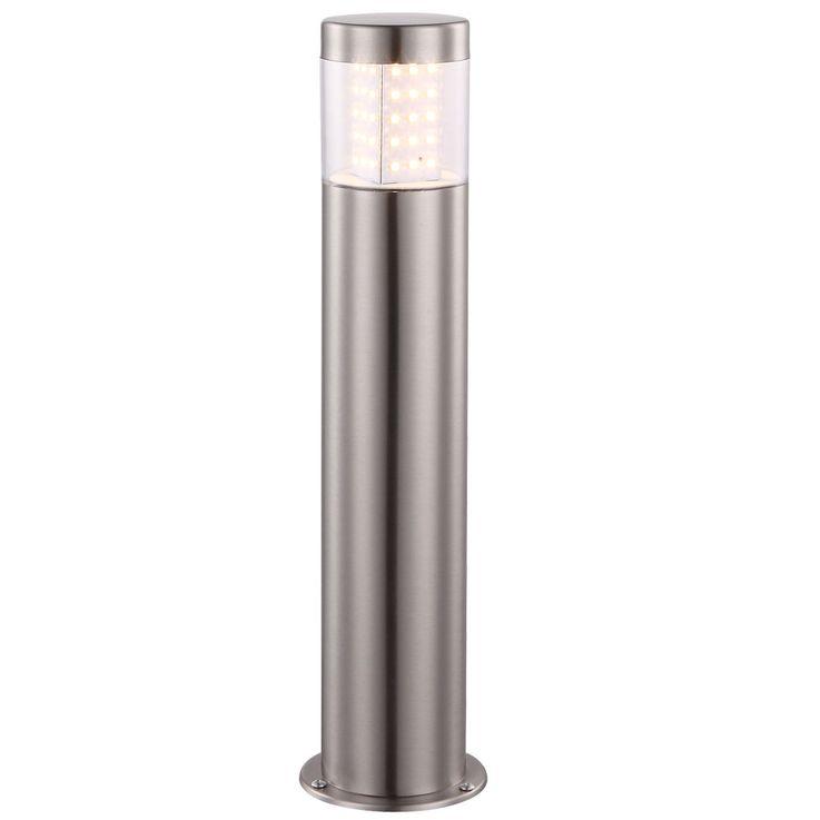 LED outdoor stand light stainless steel garden pillars pedestal lamp way lighting entrance front garden light  Globo 34015 – Bild 1