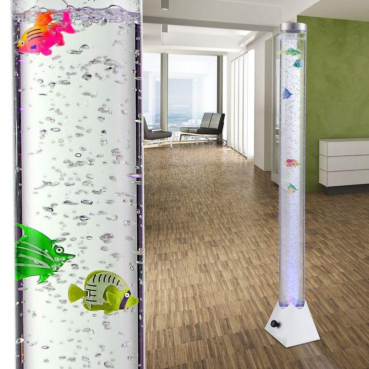 LED RGB Wasser Säule klar Deko Fische Steh Lampe Kabel Schalter Farbwechsel Globo 9015 – Bild 5