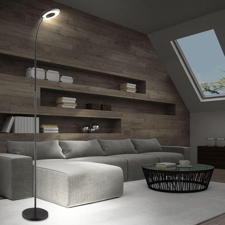Design LED stand dining room lamp status lamp flexo touch switch black Globo 58253S – Bild 3