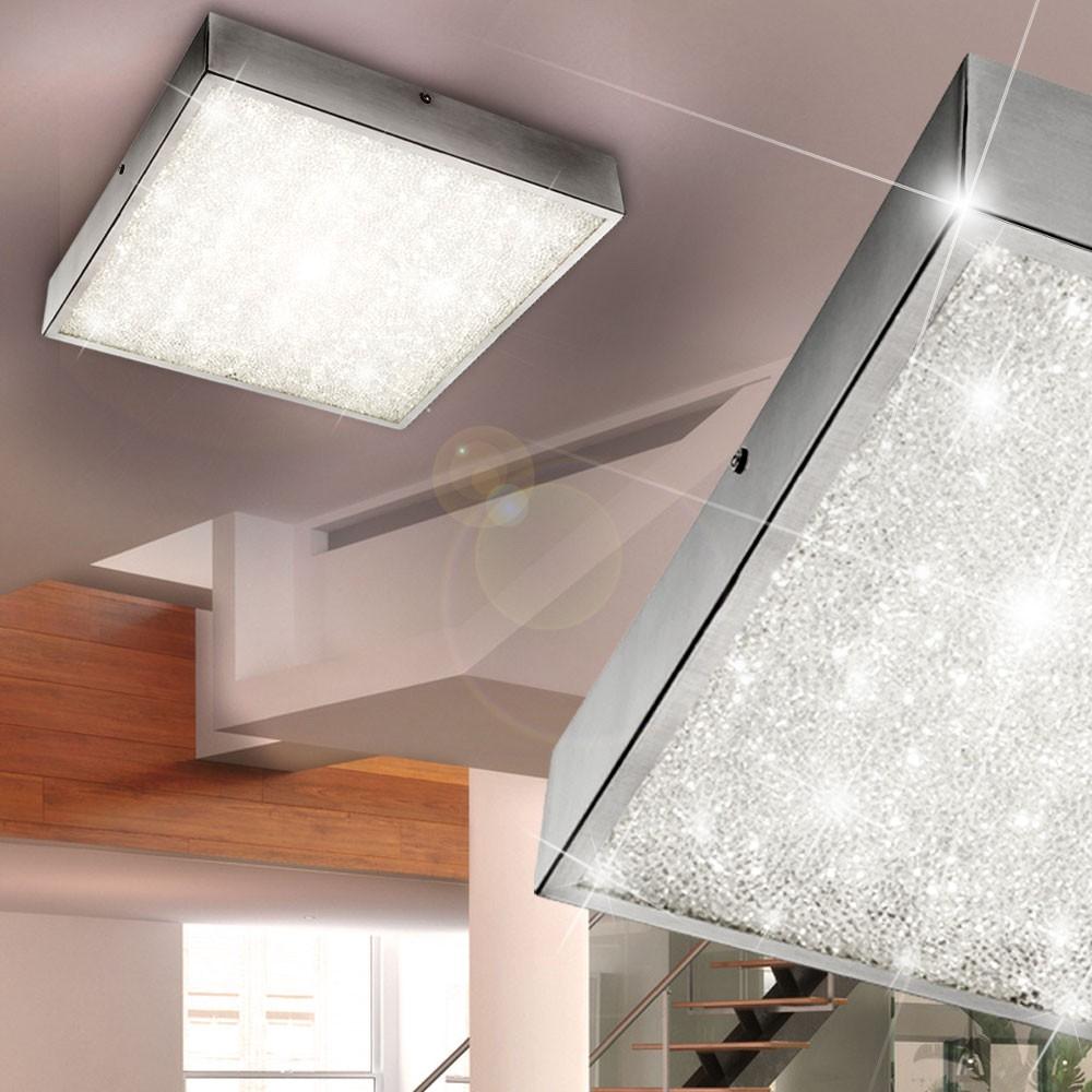 elegante deckenleuchte aus chrom und glaskristallen lampen m bel innenleuchten. Black Bedroom Furniture Sets. Home Design Ideas