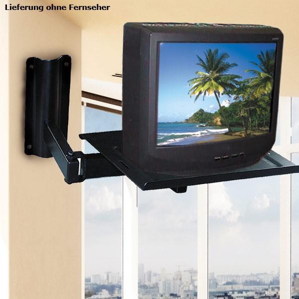 Wandhalterung für TV und Computer Monitor Schwarz beweglich ETT 861351 – Bild 2
