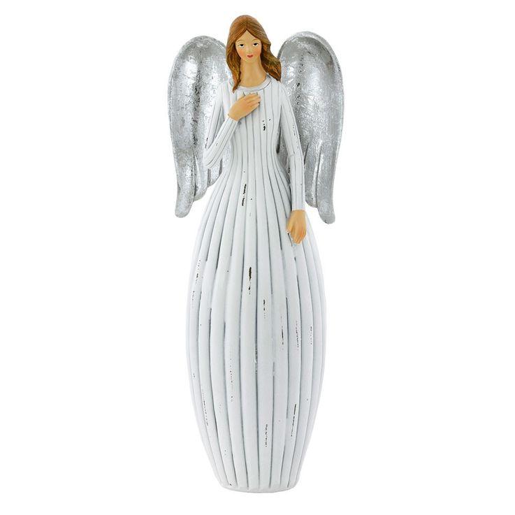 Weihnachts Engel Stand Figur Adventszeit X-MAS Fensterbank Dekoration Höhe 30,5 cm Eglo 41222 – Bild 1