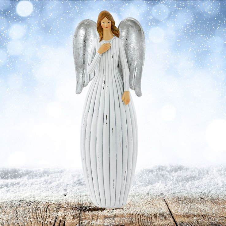 Weihnachts Engel Stand Figur Adventszeit X-MAS Fensterbank Dekoration Höhe 30,5 cm Eglo 41222 – Bild 3