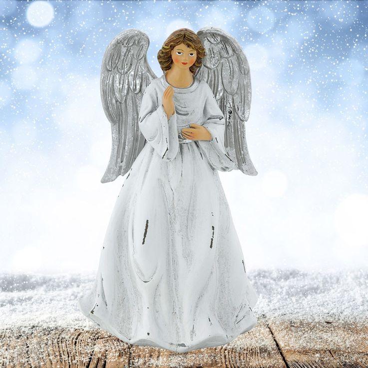 Eleganter Engel zur Dekoration mit einer Höhe von 17 cm – Bild 2