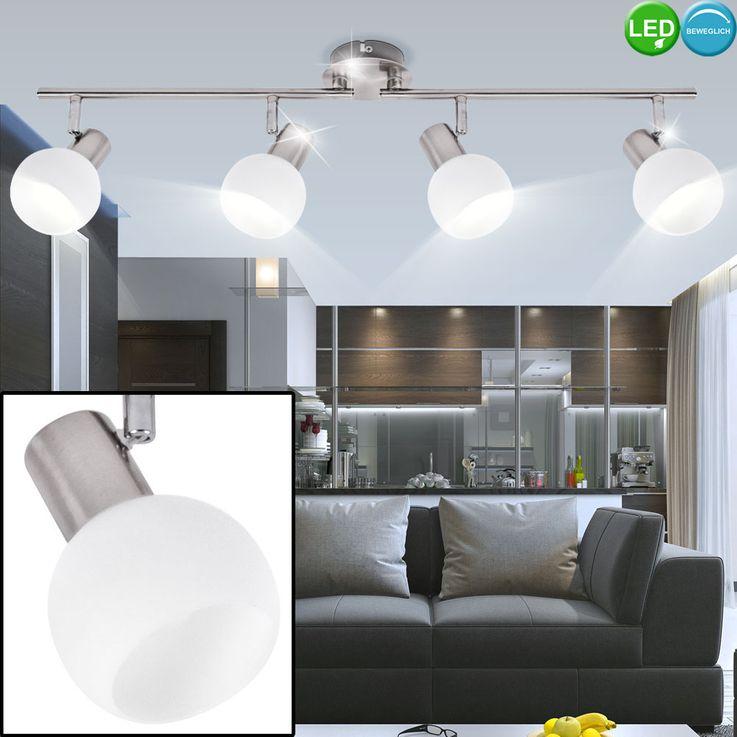 LED ceiling lamp living room spot light silver movable glass spotlight  Brilliant G16332 / 13 – Bild 3