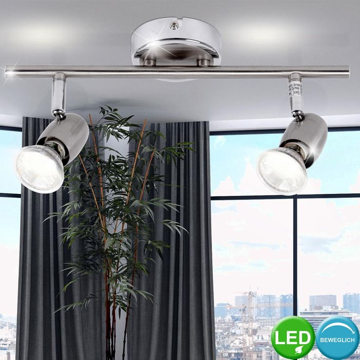 5 watt LED Wall lamp ceiling lamp spotlights spot beams Brilliant WESLEY G54813/77 – Bild 2